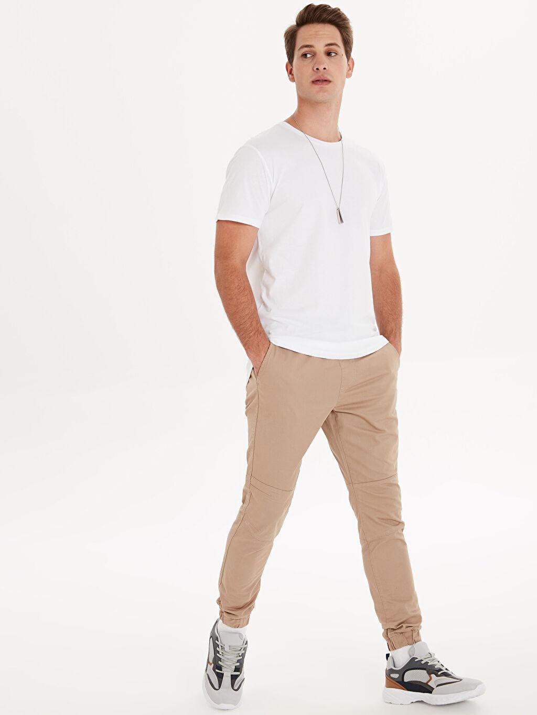 %96 Pamuk %4 Elastan Standart Gabardin Normal Bel Dar Pantolon Düz Slim Fit Gabardin Spor Pantolon