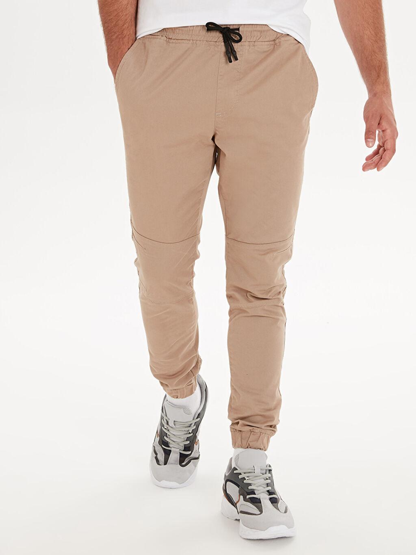 Erkek Slim Fit Gabardin Spor Pantolon