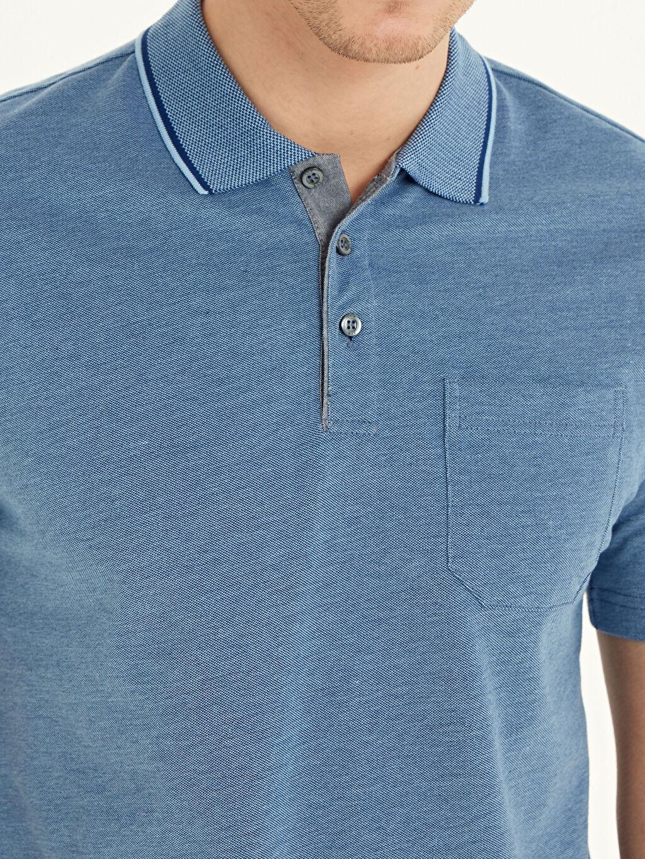 %100 Pamuk Polo Yaka Kısa Kollu Pamuklu Tişört