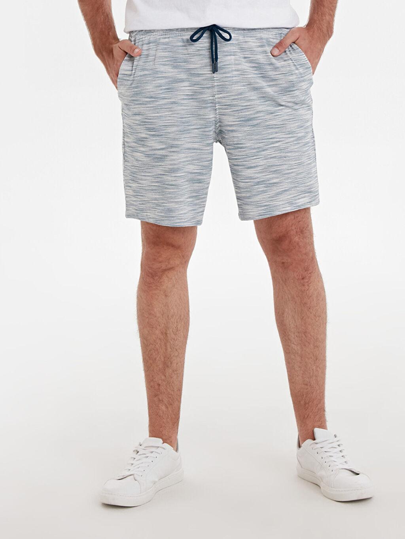 %75 Pamuk %25 Polyester  Regular Fit Bermuda Şort