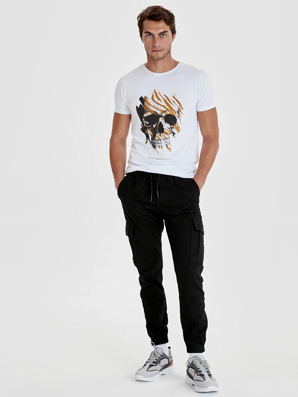 Antrasit Slim Fit Bilek Boy Gabardin Pantolon 9SB212Z8 LC Waikiki