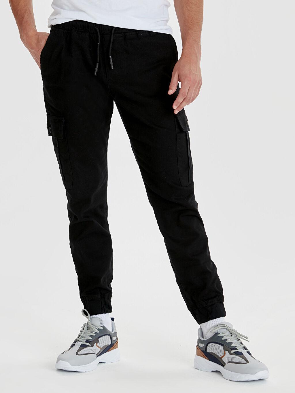 %98 Pamuk %2 Elastan Normal Bel Dar Pilesiz Pantolon Slim Fit Bilek Boy Gabardin Pantolon