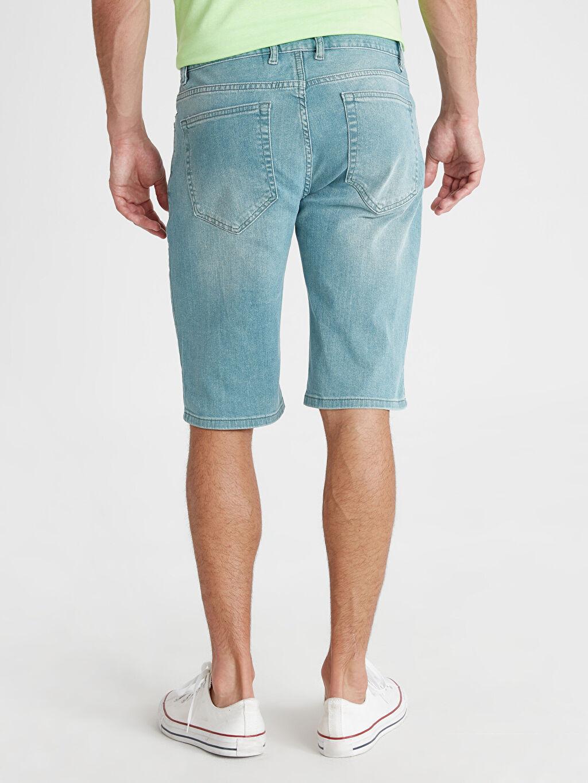Erkek Regular Fit Bermuda Jean Şort