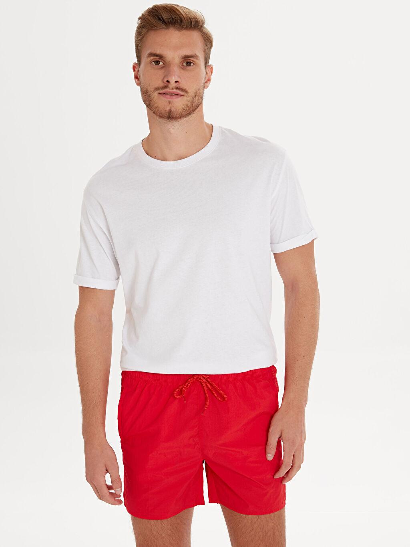 Kırmızı Kısa Boy Basic Deniz Şortu 9SC331Z8 LC Waikiki