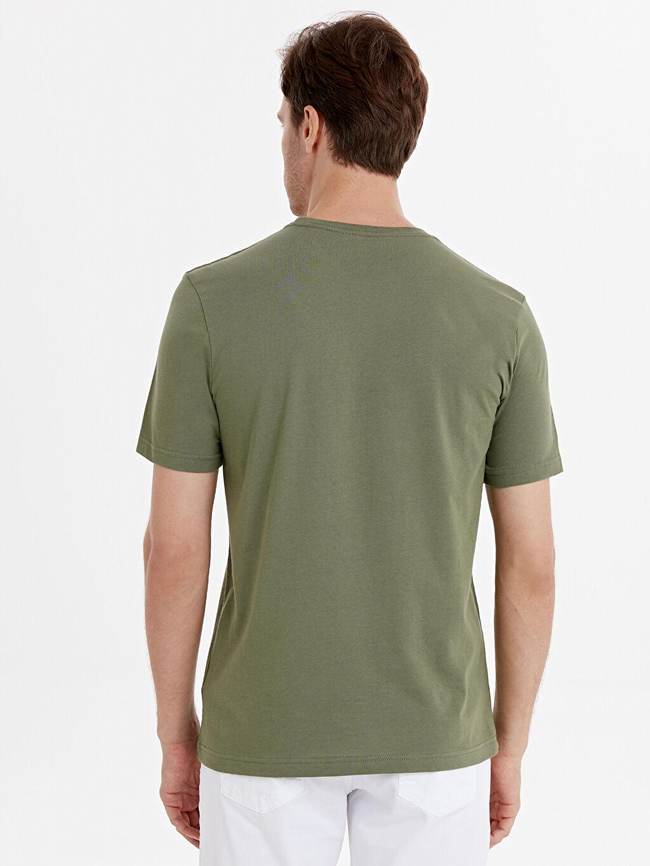 %100 Pamuk Düz Bol Kısa Kol Tişört Bisiklet Yaka Bisiklet Yaka Pamuklu Basic Tişört