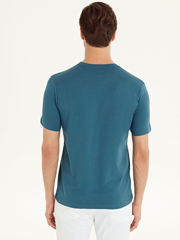 %100 Pamuk Bisiklet Yaka Pamuklu Basic Tişört