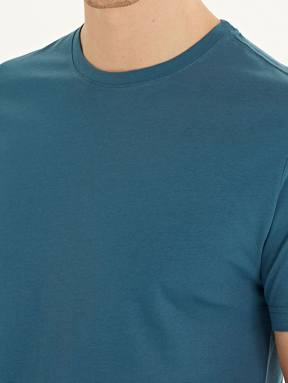 LC Waikiki Petrol Bisiklet Yaka Pamuklu Basic Tişört