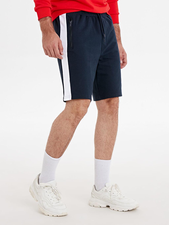 %70 Pamuk %30 Polyester  Regular Fit Bermuda Şort