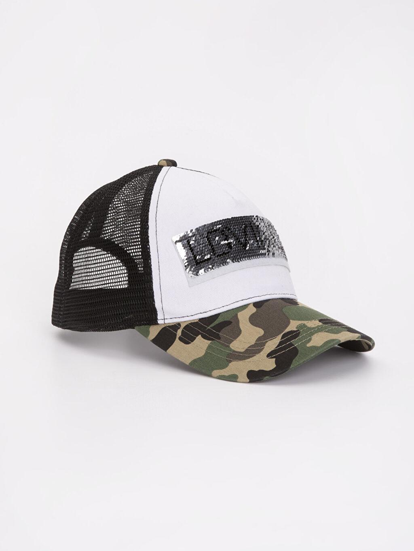 %100 Polyester Şapka Kep Baskılı Pul Payetli Şapka