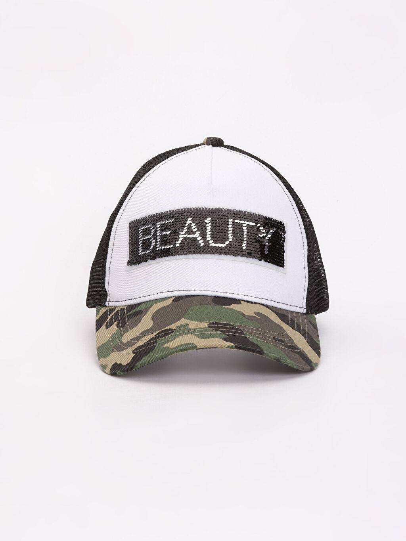 %100 Polyester Pul Payetli Şapka