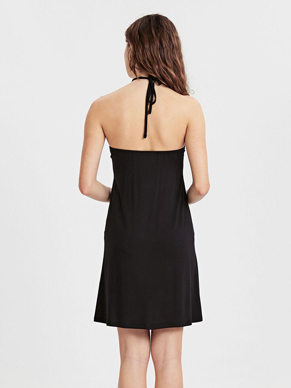 Kadın Boyundan Bağlamalı Deniz Elbisesi