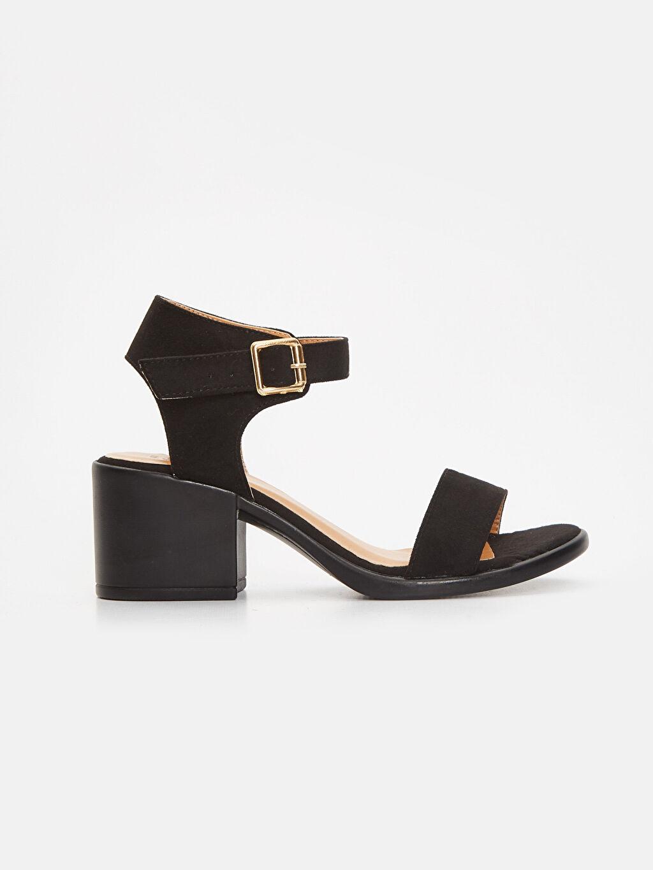 Siyah Kadın Topuklu Sandalet 9SG859Z8 LC Waikiki