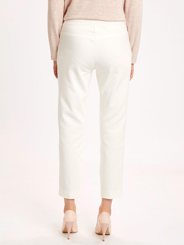 Kadın Bilek Boy Düz Paça Esnek Kumaş Pantolon