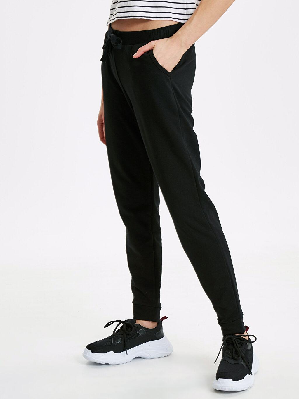 %42 Pamuk %58 Polyester Üç İplik Standart Uzun Orta Kalınlık Eşofman Altı Jogger Pijama Altı