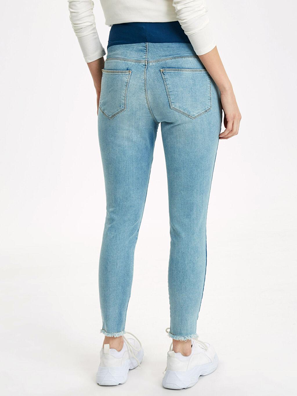 Kadın Şerit Detaylı Skinny Hamile Pantolon