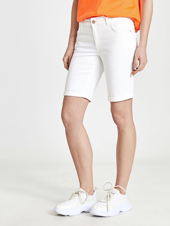 Kadın Skinny Jean Şort