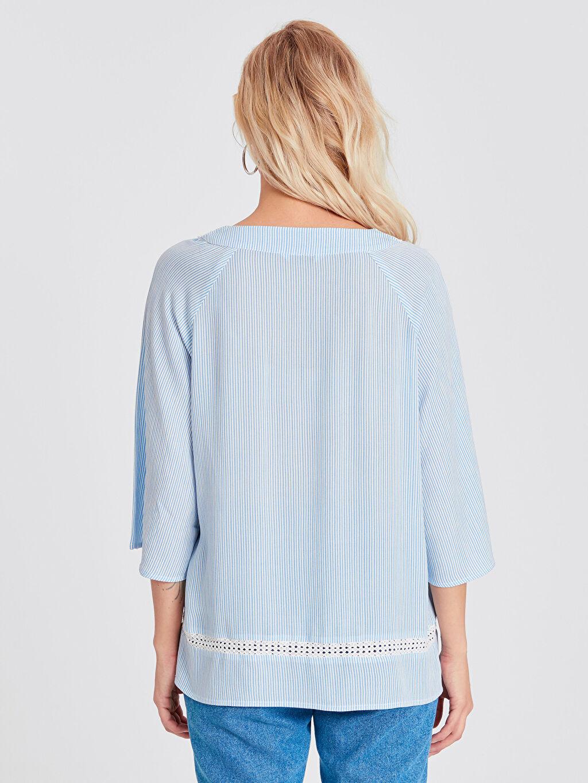 Kadın Dantelli Viskon Bluz