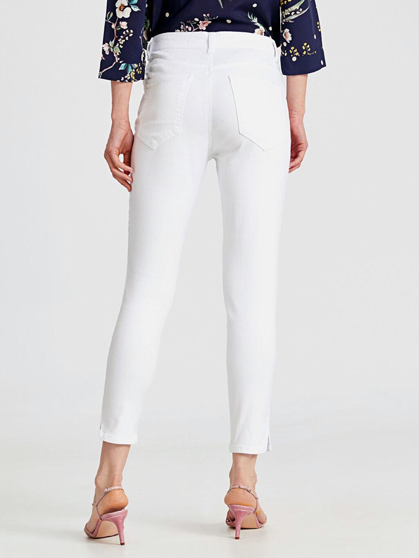 %97 Pamuk %3 Elastan Bilek Boy Super Slim Pantolon
