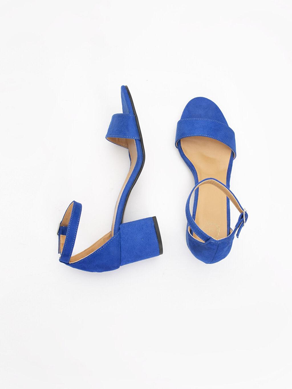 Tekstil malzemeleri Diğer malzeme (poliüretan)  Kadın Süet Görünümlü Topuklu Ayakkabı