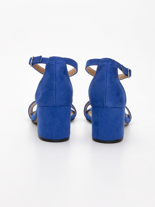 Kadın Süet Görünümlü Topuklu Ayakkabı