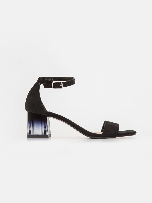 Siyah Kadın Süet Görünümlü Topuklu Ayakkabı 9SS120Z8 LC Waikiki