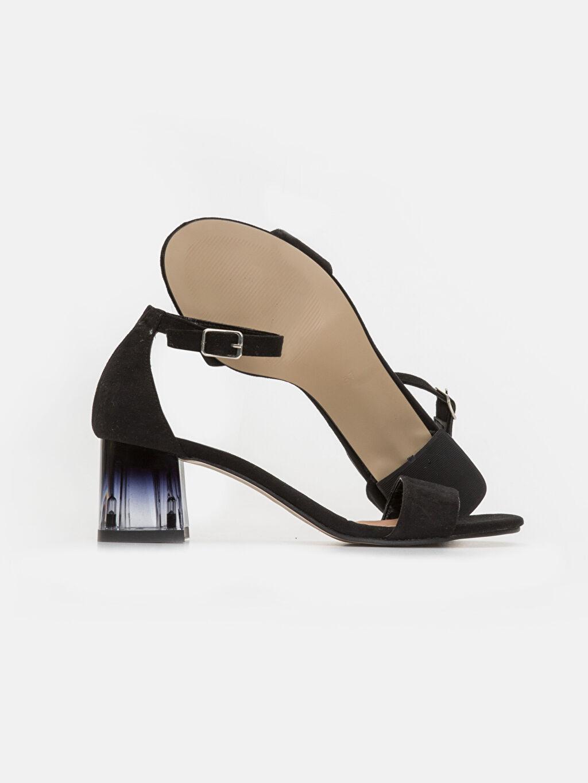 Kadın Kadın Süet Görünümlü Topuklu Ayakkabı