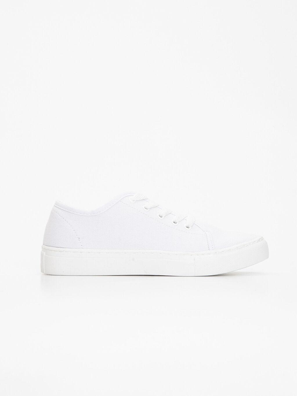Beyaz Kadın Kalın Taban Spor Ayakkabı 9ST564Z8 LC Waikiki