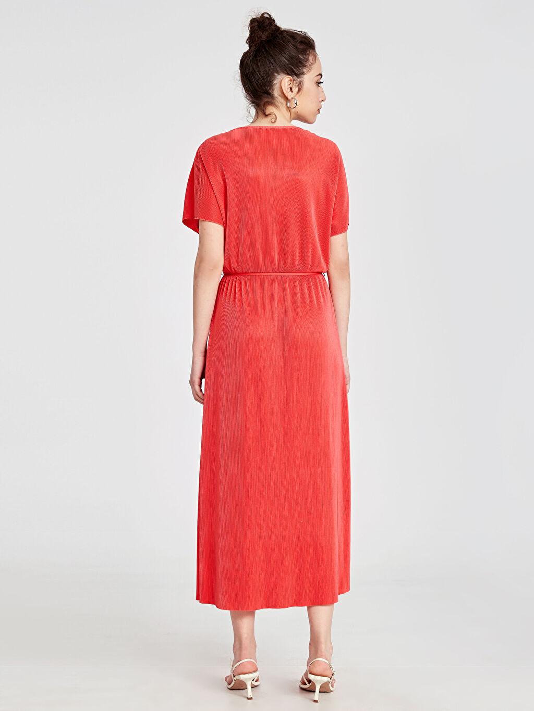 Kadın Kruvaze Yaka Kuşaklı Elbise