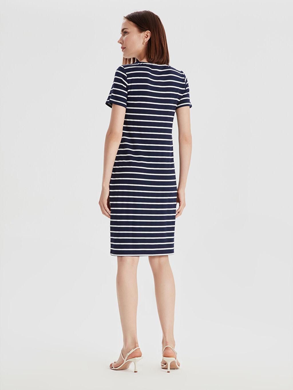 Kadın Çizgili Esnek Elbise