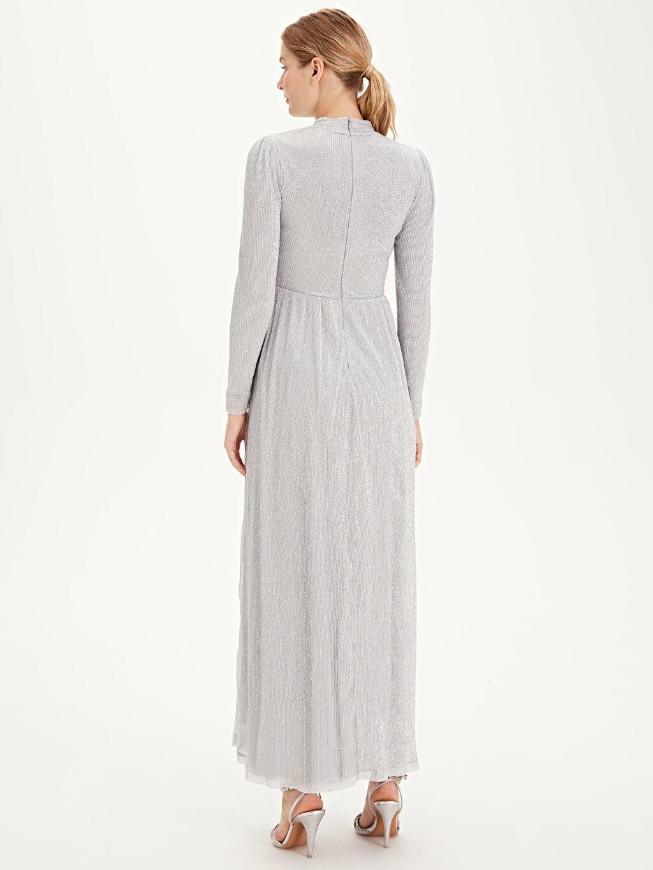 Kadın Işıltılı Uzun Şifon Abiye Elbise