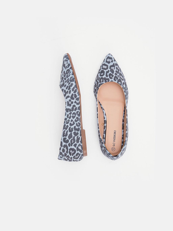 Diğer malzeme (poliüretan) Diğer malzeme (poliüretan) Baskılı Bol Babet Sivri Burun 3 cm Kısa Kadın Leopar Desenli Babet Ayakkabı