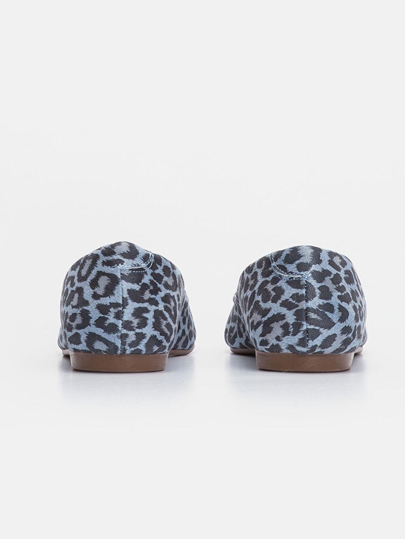 Kadın Leopar Desenli Babet Ayakkabı