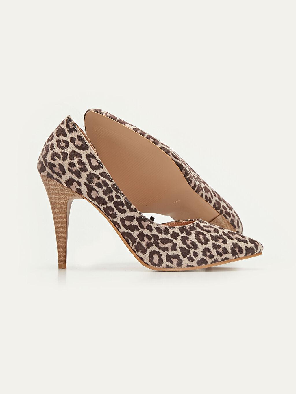 Kadın Kadın Leopar Desenli Stiletto Ayakkabı
