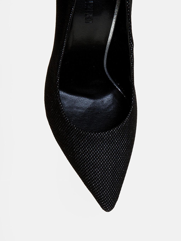 LC Waikiki Gri Kadın Simli Stiletto Ayakkabı