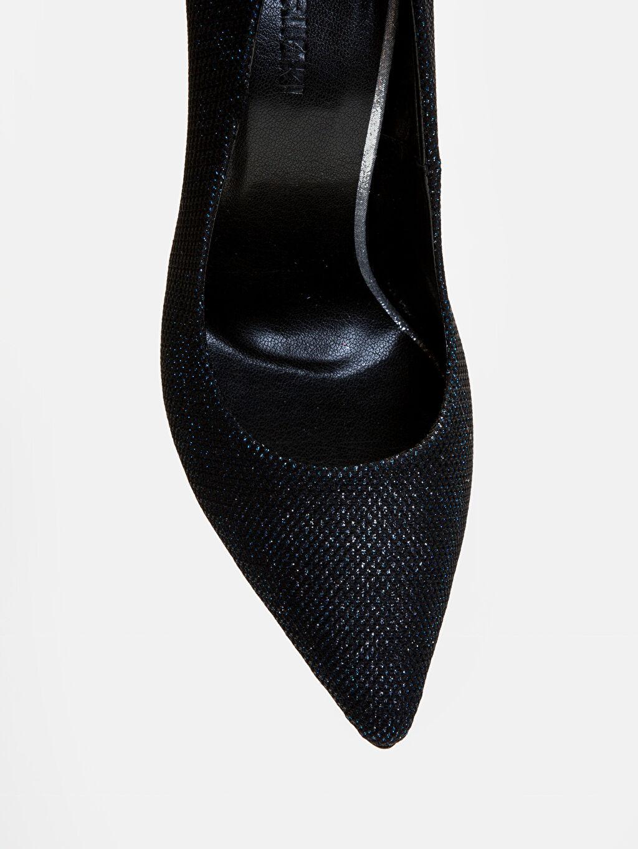 LC Waikiki Siyah Kadın Simli Stiletto Ayakkabı