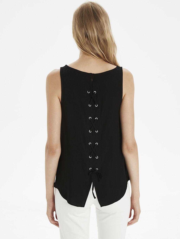 Kadın Düz Basic Viskon Bluz
