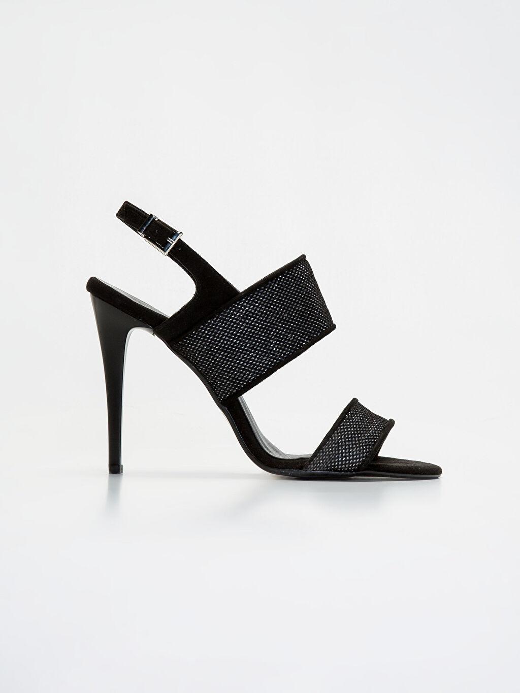 Siyah Kadın Sivri Topuklu Ayakkabı 9SY627Z8 LC Waikiki