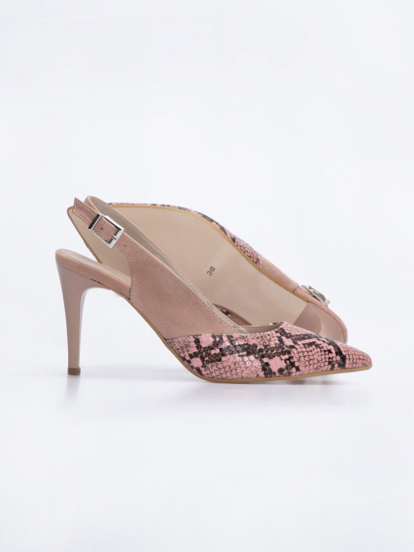 Kadın Kadın Yılan Derisi Görünümlü Topuklu Ayakkabı