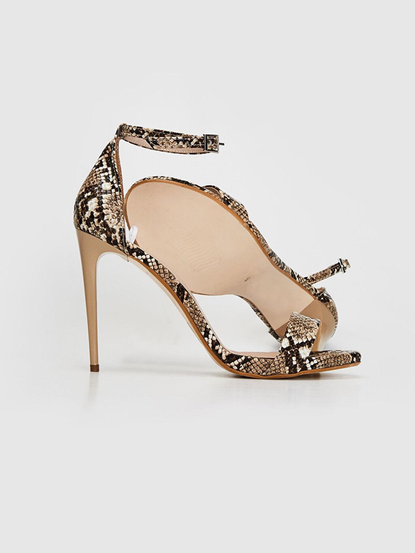 Kadın Kadın Yılan Derisi Görünümlü Stiletto Ayakkabı
