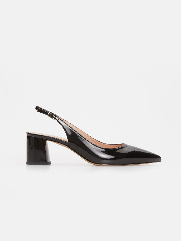 Siyah Kadın Sivri Burun Topuklu Ayakkabı 9SA510Z8 LC Waikiki