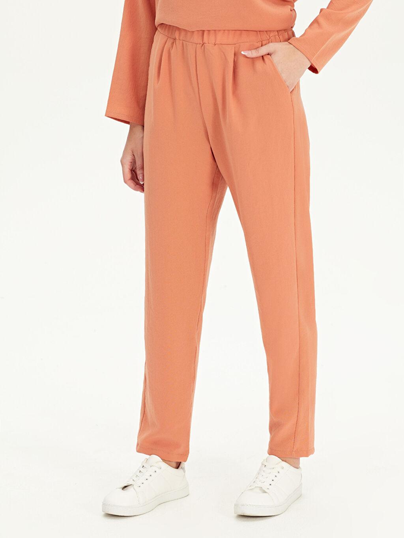 Kadın Beli Lastikli Havuç Pantolon