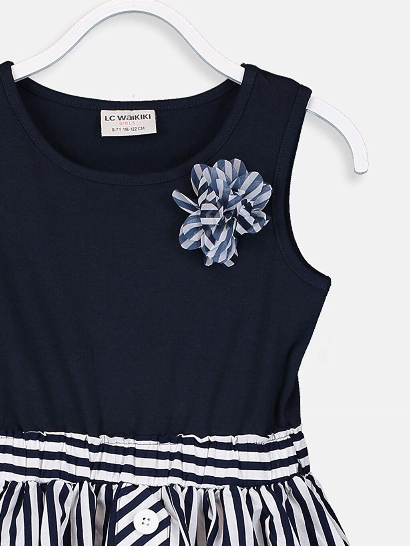 Kız Çocuk Kız Çocuk Çizgili Örme Elbise