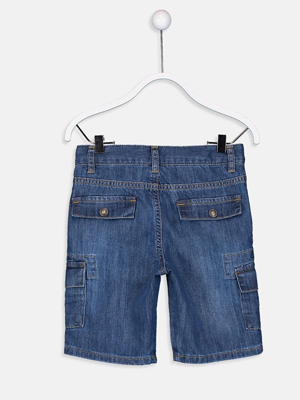 %100 Pamuk Roller Erkek Çocuk Jean Bermuda