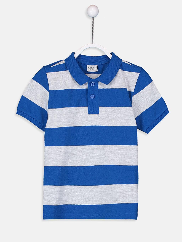 Mavi Erkek Çocuk Çizgili Basic Tişört 9S2720Z4 LC Waikiki