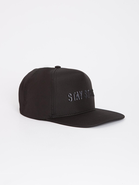 Siyah Erkek Çocuk Yazı Baskılı Hip Hop Şapka 9S3508Z4 LC Waikiki