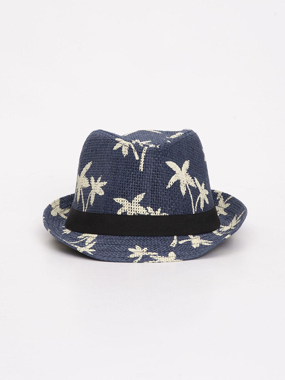 %100 Kağıt  Erkek Çocuk Desenli Hasır Şapka