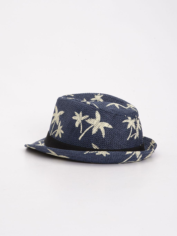 Erkek Çocuk Erkek Çocuk Desenli Hasır Şapka