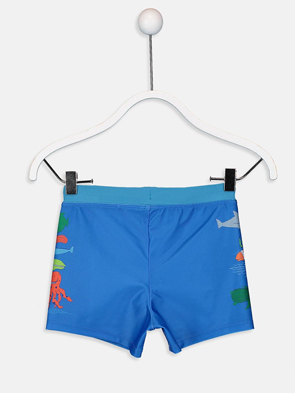 %80 Polyester %20 Elastan %100 Polyester Plaj Mayo Standart Baskılı Boxer Erkek Çocuk Boxer Mayo