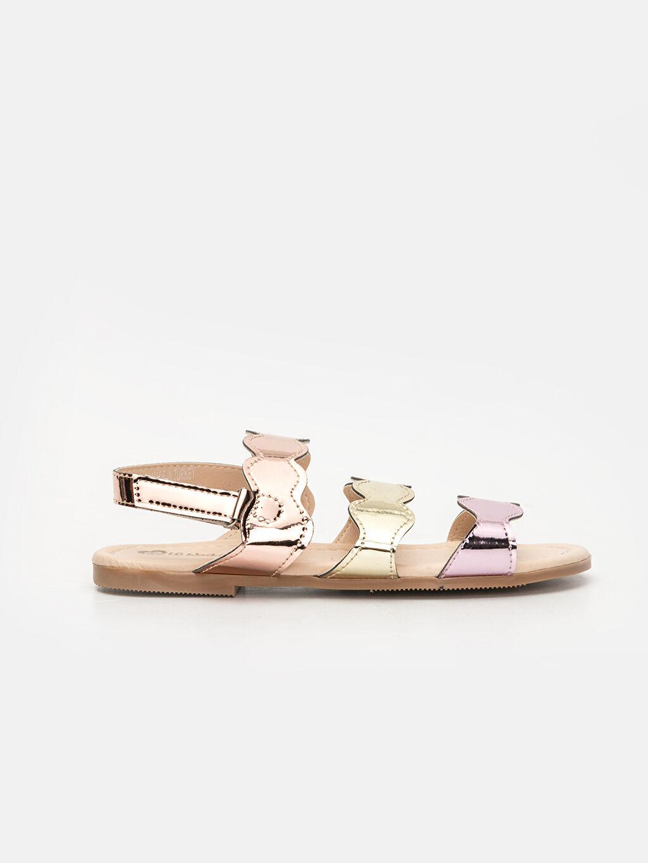 Metalik Kız Çocuk Parlak Bantlı Sandalet 9S6928Z4 LC Waikiki