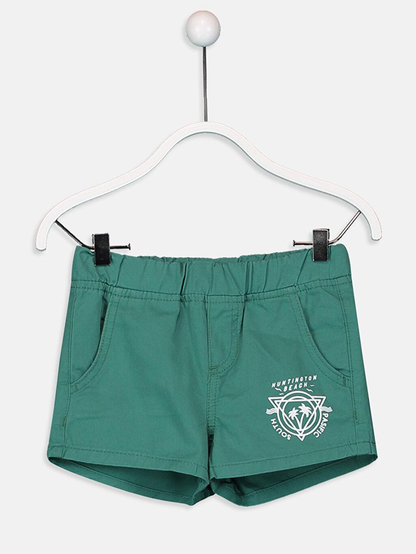 Yeşil Erkek Çocuk Dokuma Şort 9S7702Z4 LC Waikiki